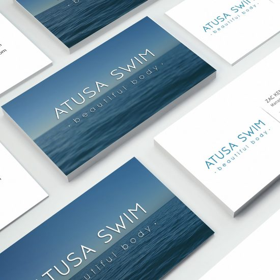 Natalie Pasnin Designs - Business Card Designs Atusa Swim - Swimwear Logo