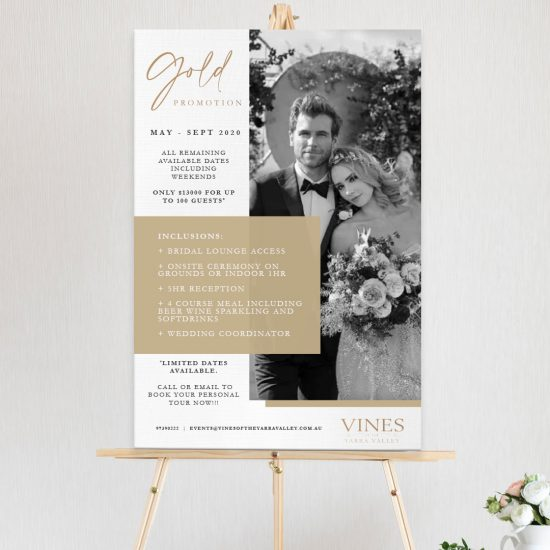 Vines of the Yarra Valley - Wedding Venue Poster Design By Natalie Pasnin Graphic Designs
