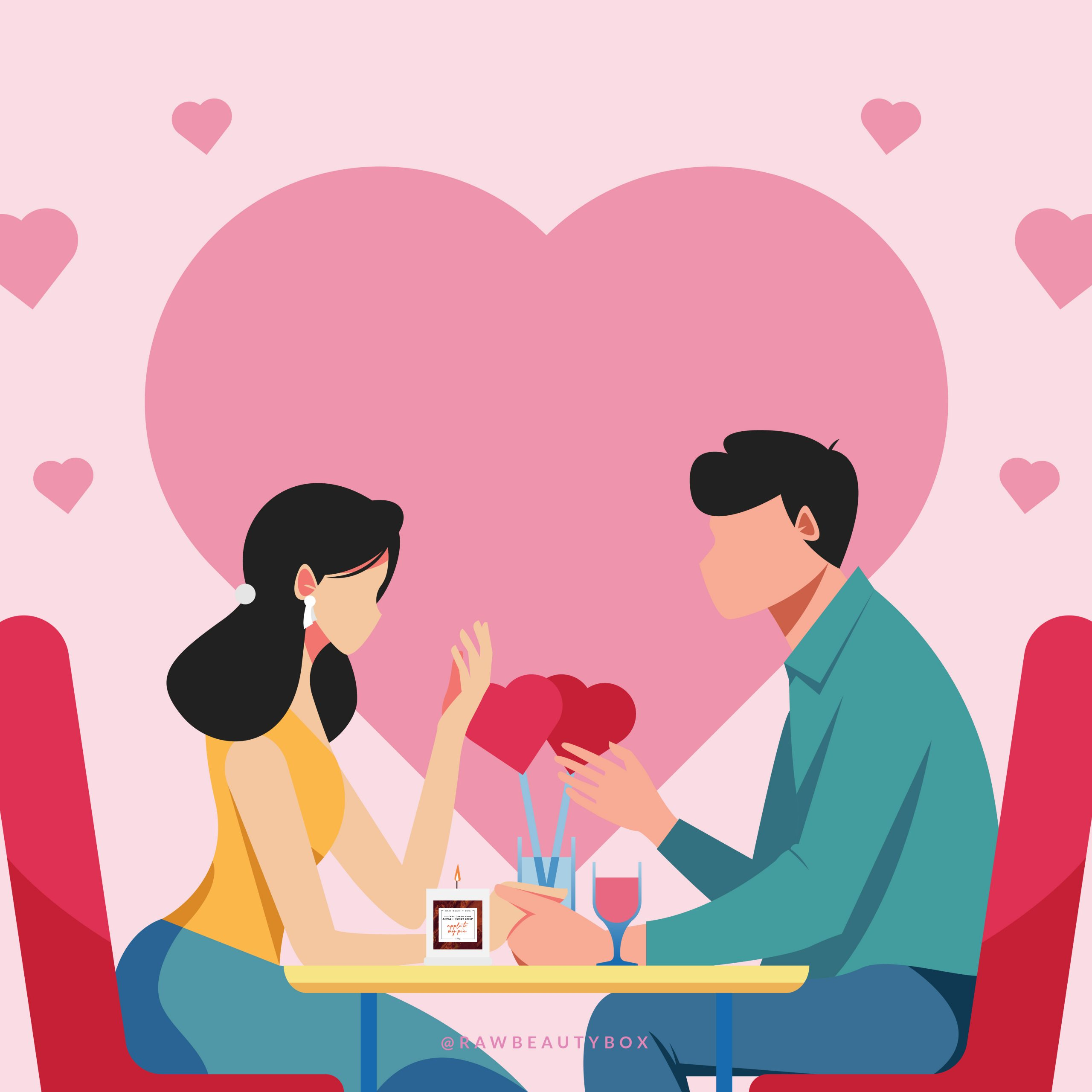 Couples Candle Date Illustration_Instagram Post