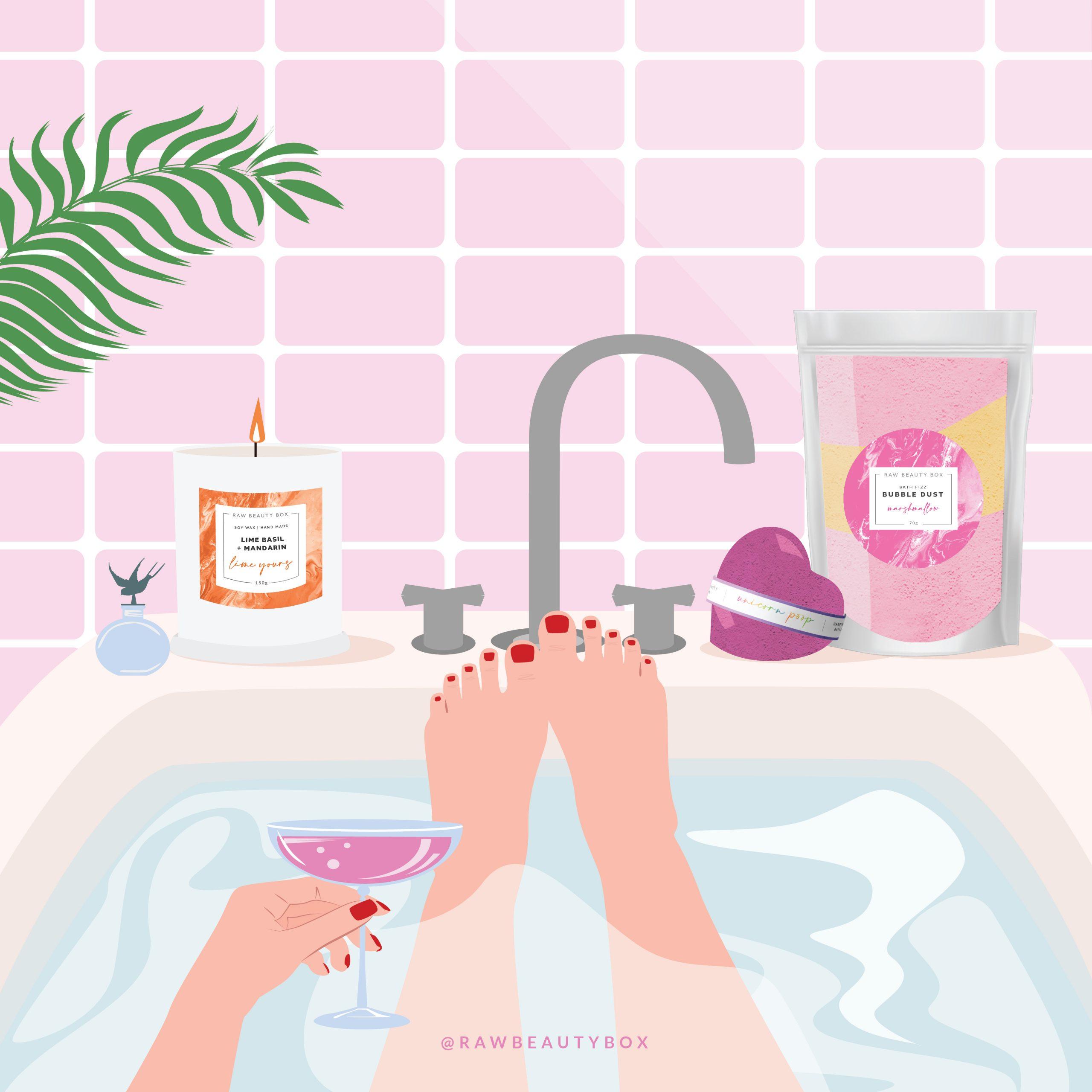 Self-Care Bath Illustration_Instagram Post